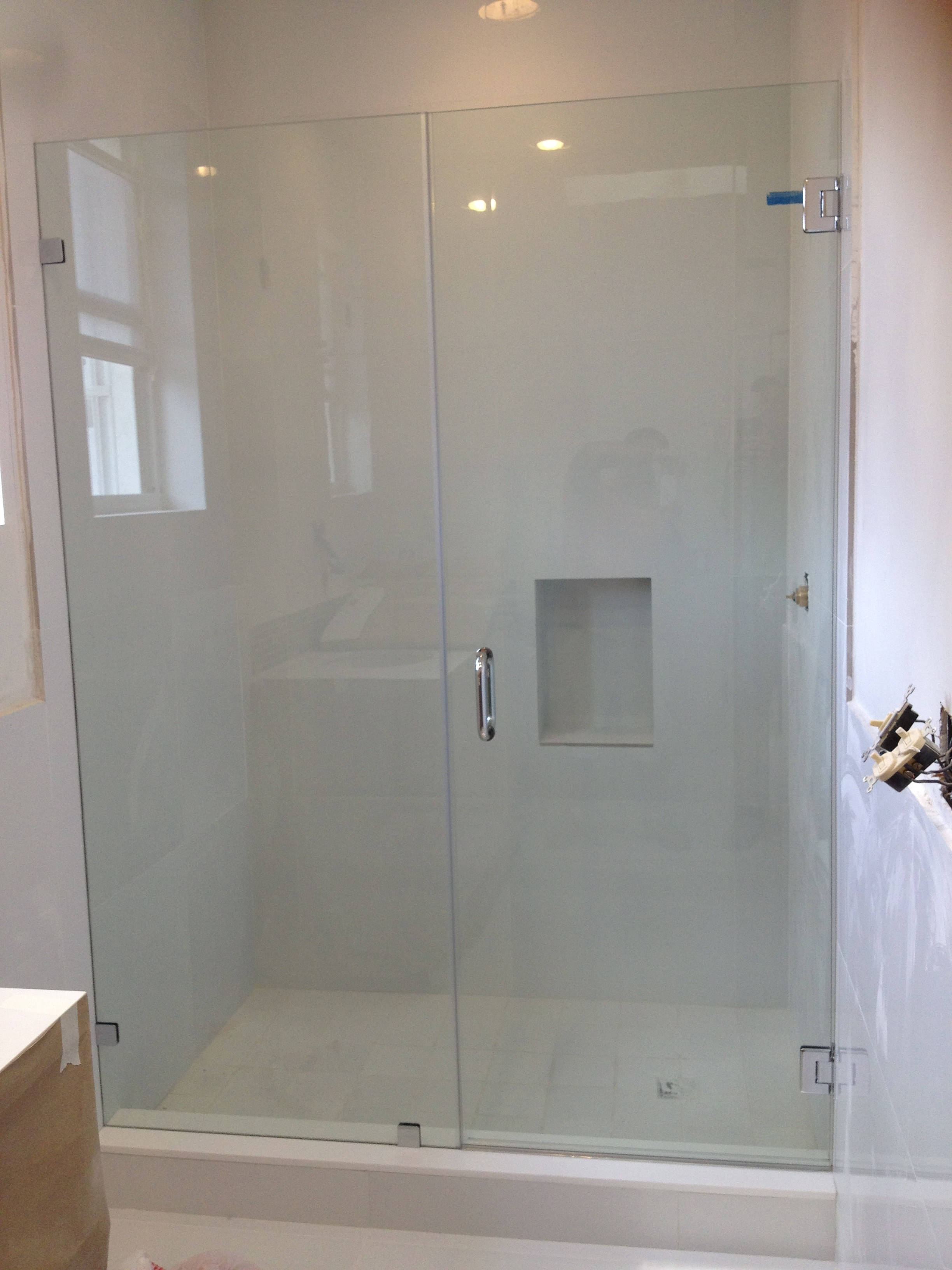 Shower glass door hinges - Marietta Frameless Glass Shower Doors Custom Frameless Shower Screens