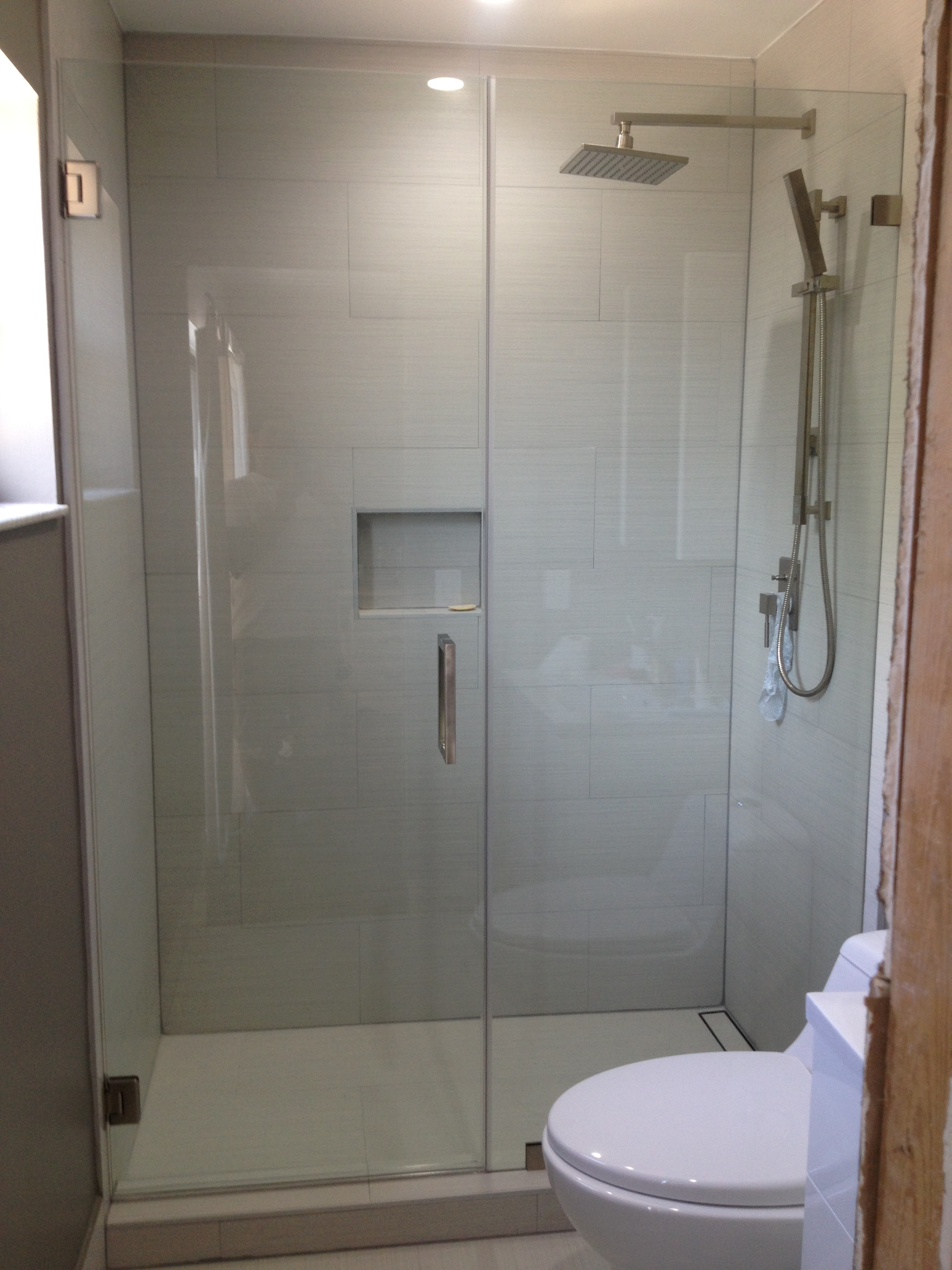 custom frameless sliding shower doors
